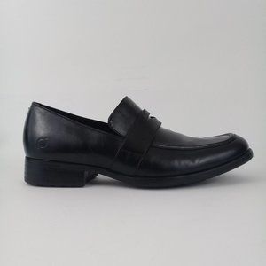 Born Stauder Men's Black Leather Loafers Size 10.5